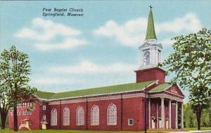 Missouri Springfield First Baptist Church