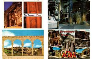 JORDANIA JORDAN 45 Middle East Postcards Mostly 1965-2000 VOYAGÉE USED!
