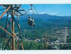 Unused Pre-1980 SKIING SCENE Gatlinburg Tennessee TN ho8161