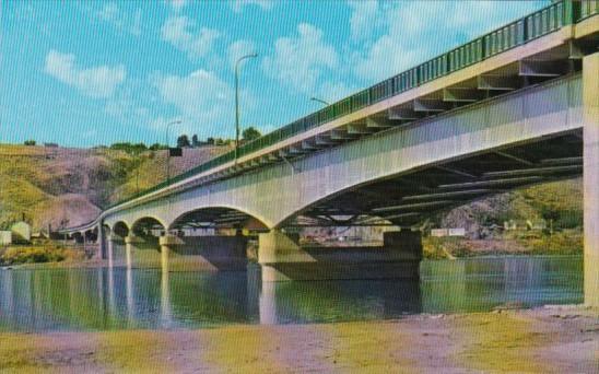 Canada Bridge Over Thompson River Between Kamloops and North Kamloops British...