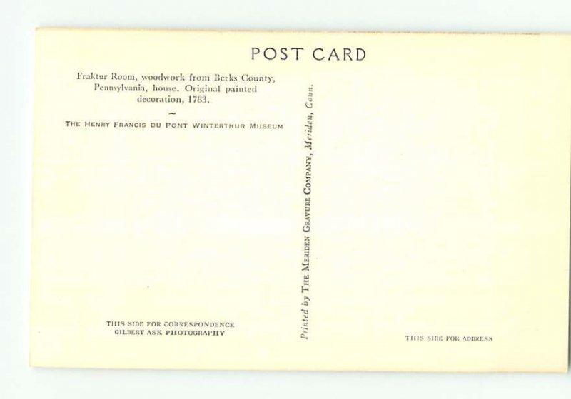 Pre-1980 MUSEUM SCENE Winterthur - By Wilmington Delaware DE AG1350