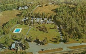Camden Maine~Marion Village Motor Inn~Camden-Rockport Line~1960s Postcard