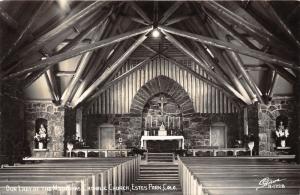 Estes Park Colorado~Our Lady of Mountains Catholic Church Sanctuary~1950s RPPC