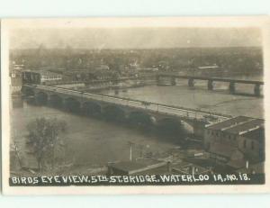 Pre-1920 rppc NICE VIEW Waterloo Iowa IA i8127