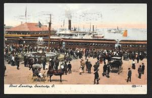 Railroad Station Boat Landing Sandusky OH Used c1907