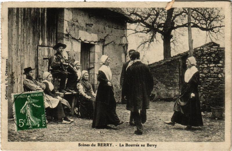 CPA Scénes du Berry La Bourrée au Berry FRANCE FOLKLORE (789567)