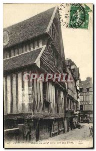 Old Postcard Lisieux House from 16th Street to Feves