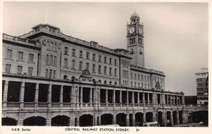 Sydney Australia Central Railway Station Real Photo Vintage Postcard AA41906