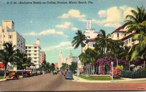 Florida Miami Beach Exclusive Hotels On Collins Avenue Curteich
