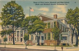 Home of Chief Justice Marshall and High School - Richmond VA, Virginia - Linen