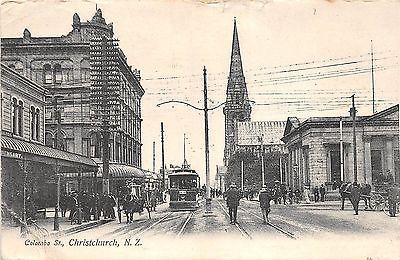 B86205 colombo  tram tramway chariot st christchurch  new