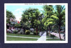 FL Halifax Avenue DAYTONA BEACH FLORIDA POSTCARD 1929
