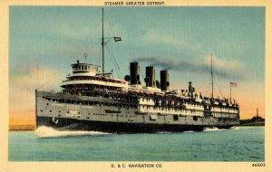 Detroit & Cleveland Navigation Co. (D&C) - Steamer Greater Detroit