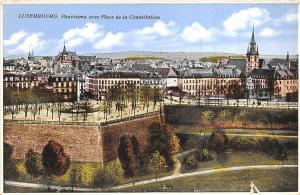 Br35721 Luxembourg Panorama avec place de la Constitution luxembourg