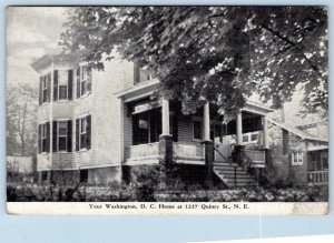 WASHINGTON DC HOME 1237 QUINCY ST NE*THE HOUSE IS STILL THERE! VINTAGE POSTCARD