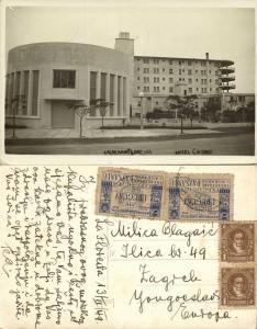 uruguay, Balneario LA FLORESTO, Hotel Casino (1949) RPPC