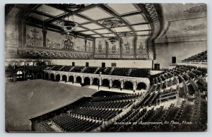 St Paul Minnesota~Auditorium Interior~Theatre Seats~Balcony~Composers Wall~1911
