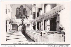 Interior Christ Church Boston Massachusetts 1954 Real Photo