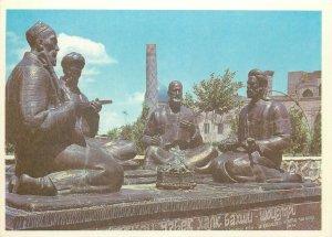 Uzbekistan Samarkand monument to uzbek folk poets Postcard