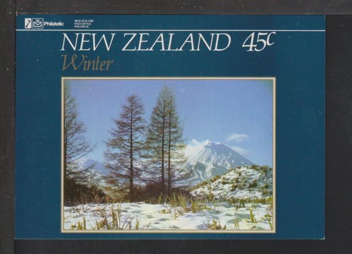 New Zealand Winter Stamp Postcard