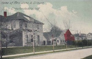 Indiana Crawfordsville Home Of Mrs John A Gilbert 1914