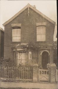 british house vintage real photograph unknown england