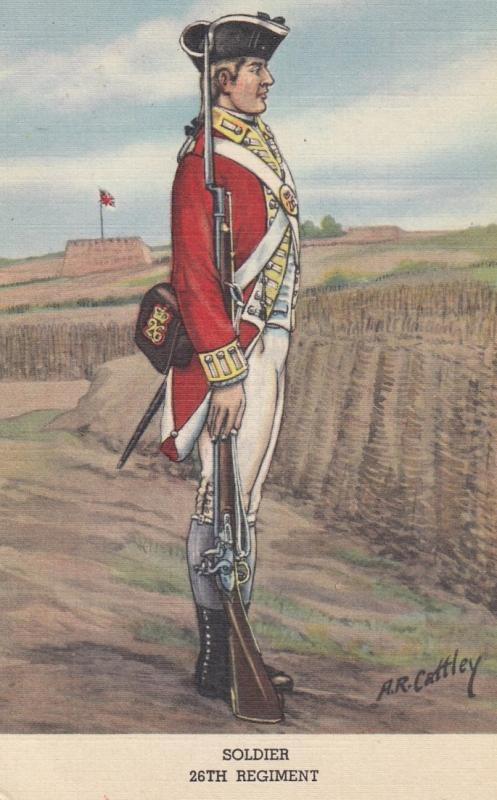Soldier 26th Regiment, Battalion Private (Drill Order) , UK of 1770s ; 1930-40s