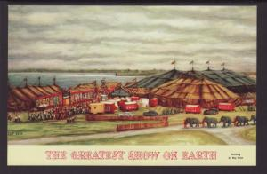 The Greatest Show on Earth,Big Top,Circus Postcard