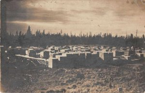 Kalispell Montana Lumber Yard Real Photo Vintage Postcard AA9992