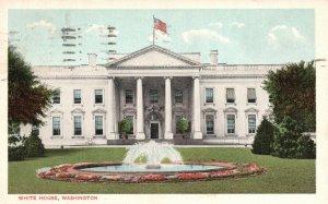 Washington, DC, White House, 1920 White Border Vintage Postcard g9298
