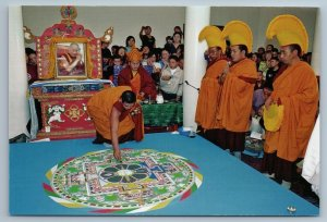 2011 ASIA MONGOLIA MNR Buddist temple Mandala Destruction Russian Photo Postcard