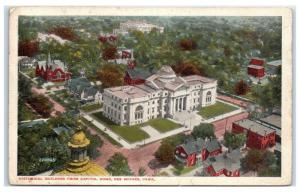 Early 1900s Iowa Historical Building from Capitol Dome, Des Moines, IA Postcard