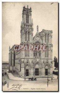Old Postcard Nancy Eglise Saint Pierre