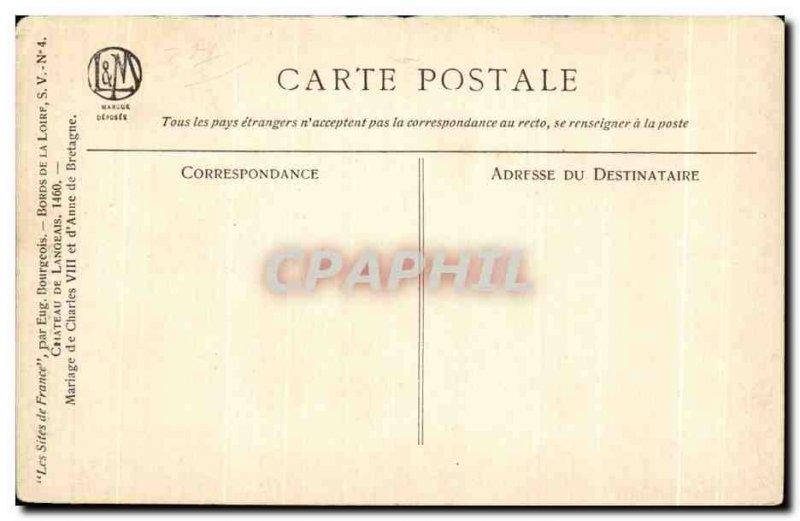 Old Postcard Langeais Chateau
