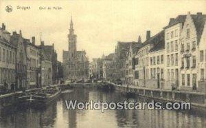 Quai du Miroir Bruges, Belgium Writing On Back
