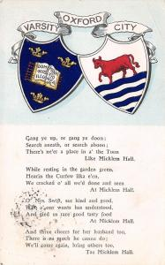 Oxford University~City Banner Coat of Arms~Micklem Hall Song~Heraldic Serie 1905