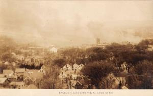 Bangor Maine Birdseye View Of Great Fire Real Photo Antique Postcard K10286