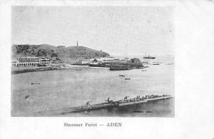 Yemen Aden Steamer Point, boats, lighthouse, panorama