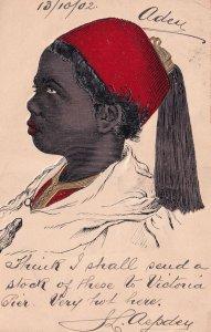 Aden Somali Woman African Egypt Raised 3D 1902 Postcard