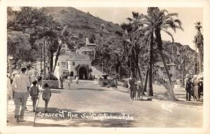 Santa Catalina California Crescent Ave Real Photo Antique Postcard K36614