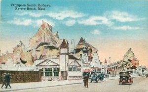 Revere Beach Massachusetts Amusement C-1910 Postcard Thompson Railway 21-7018