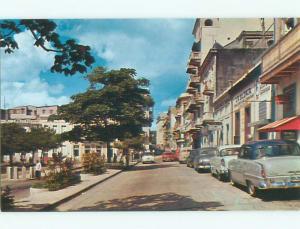 Unused Pre-1980 OLD CARS & SHOPS ON STREET San Juan Puerto Rico PR n0571