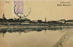 romania, ARAD, Malul Mureșului (1927) Postcard