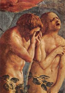 Italy Firenze Art Carmine Basilica Masaccio, Adam Eve Paradise, Detail