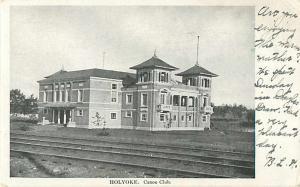 Holyoke, Canoe Club, Massachusetts MA 1906 UNDivided Back