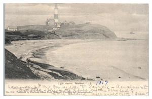 1907 Light House, Montauk, Long Island, NY Postcard *5E5