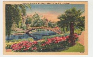 P2231 vintage postcard restful beauty in hollenbeck park los angeles calif