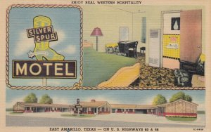 RT 66 ; EAST ARMADILLO , Texas , 1930-40s ; Silver Spur Motel
