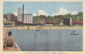Beach & Pier , GODERICH , Ontario , Canada , 1930s