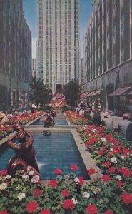 ROCKEFELLER PLAZA, New York City, New York, 1940s-Present; Fountains And Gard...